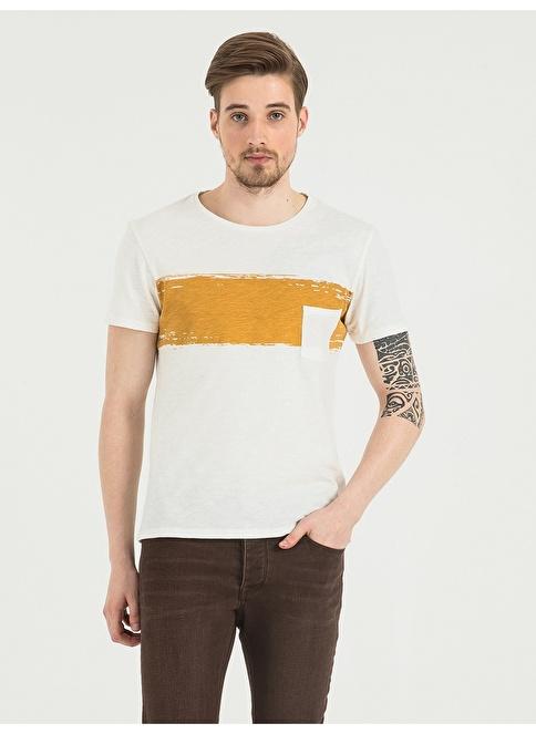 Loft Desenli T-Shirt Beyaz